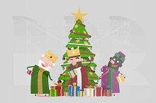 3d illustration. Magic Kings Tree