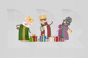 3d illustration. Magic Kings Gifts