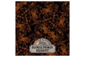 Floral design texture