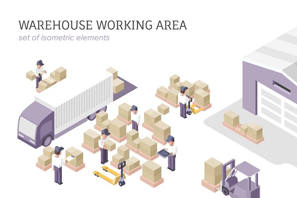 Warehouse Isometric Elements