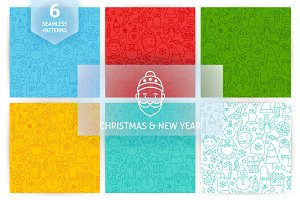 Christmas & New Year Tile Patterns