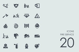 Fire service icons