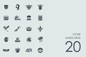 Mardi gras icons