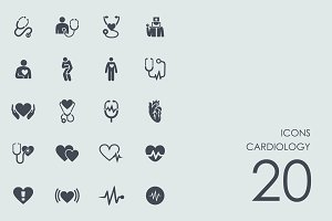 Cardiology icons