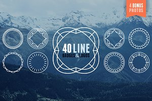 40 line badges and logo templates