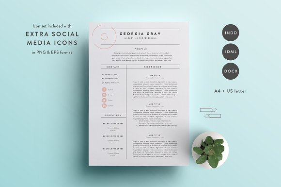 resume template 3 page cv template resume templates creative