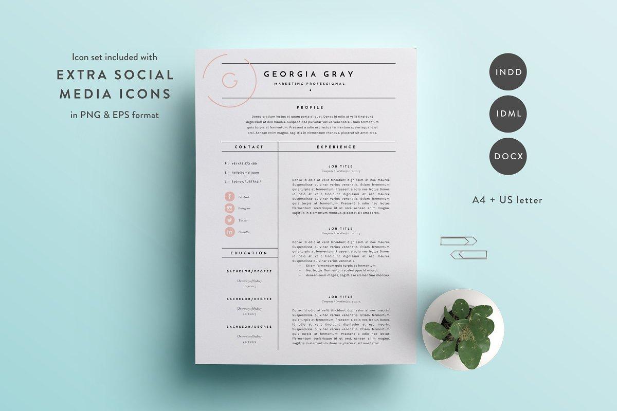 Resume Template 3 Page | CV Template ~ Resume Templates ...