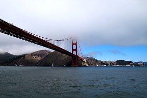 Golden Bridge in Clouds