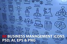 Business Management Icons. Pack 3.