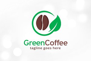 Green Coffee Logo Template