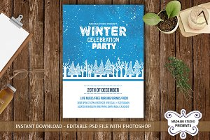 Winter Celebration Party Flyer