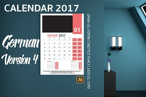 German Wall Calendar 2017 Version 4