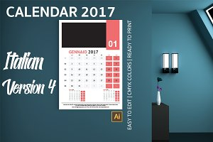Italian Wall Calendar 2017 Version 4