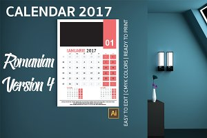 Romania Wall Calendar 2017 Version 4