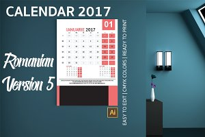 Romania Wall Calendar 2017 Version 5
