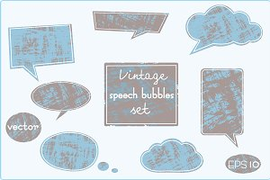 Vintage speech bubbles set.Vector.