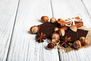 Chocolate with nuts