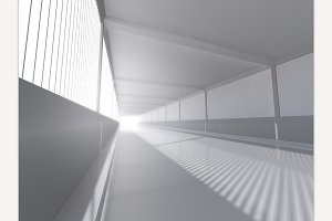 White interior 3D rendering