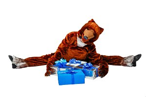 Bear and Christmas gifts