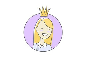 Girl in Crown Avatar Userpic