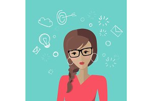 Young Woman Avatar Icon