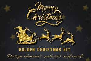 Golden Christmas kit