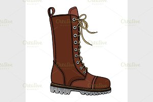 woman s brown leather boots