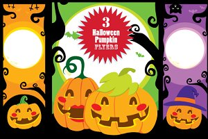 Halloween Pumpkin Banners
