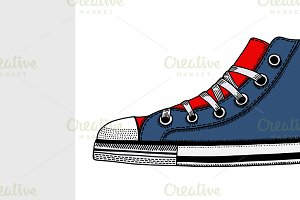 Hand-drawn sneakers.