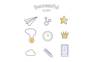 Successful Icons Set