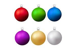 Christmas, new year balls. eps png