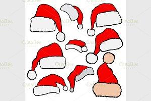 Christmas Santa Claus hats
