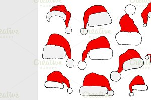 Christmas Santa Claus hats