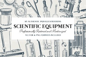85 Science Equipment Illustrations