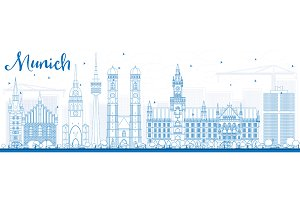 Outline Munich Skyline