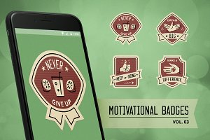 Motivational badge design vol. 03