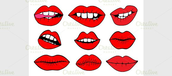 Vector Illustrations Sweet Lips