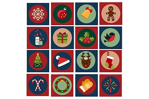 Christmas icons. eps