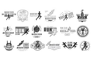 Running club labels