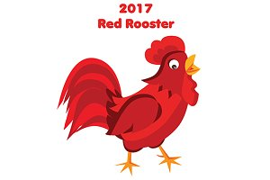 2017 Red rooster. eps + jpg