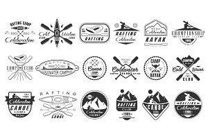 Kayak and canoe emblems