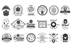 Cotton and Wool labels