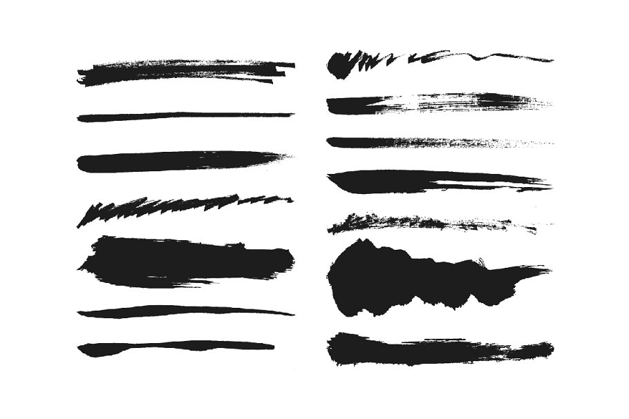 Ink Brush Pack For Illustrator Objects Creative Market Pro