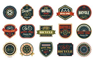 Bicycle set badges