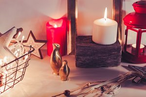 Gold modern Xmas home decoration
