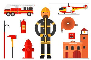 Firefighting character