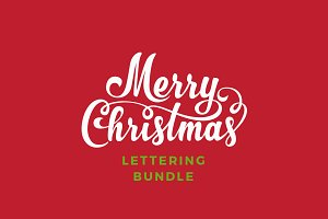 Christmas Lettering Vector Bundle