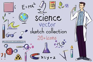 Science. Vector sketch  collection.
