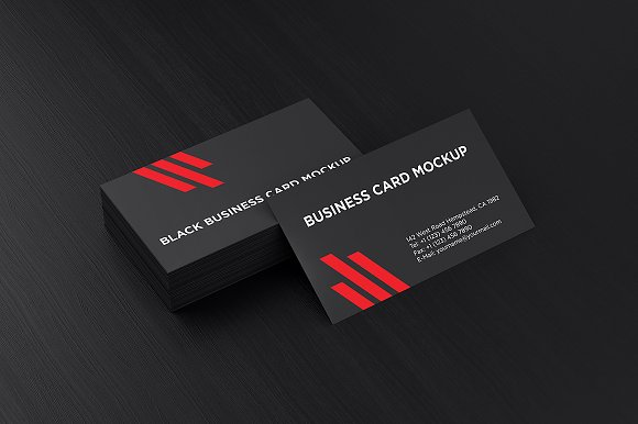 Black business card mockup product mockups creative market colourmoves