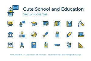 125+ School and Education Icons